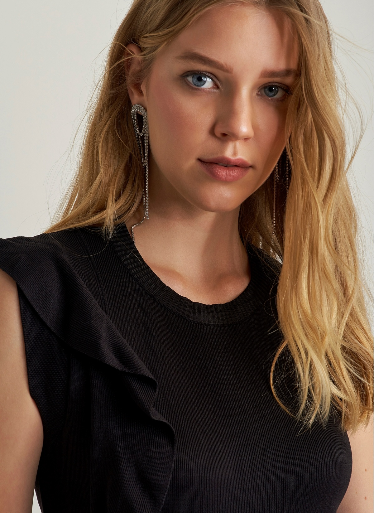 48097b765b20e Ng Style Volan Detaylı Triko Elbise